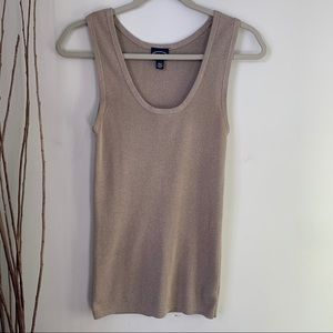 Scoop Sleeveless Knit Top Women's Size Large